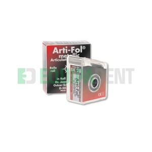 PAPEL ARTICULAR METALICO ARTI-FOL BK28 NEGRO/ROJO 12 MICRAS